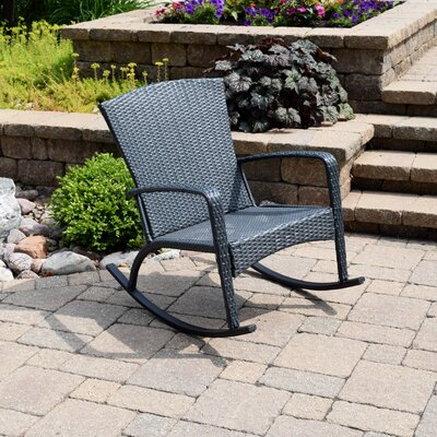 Truesdell Woven Adirondack Rocking Chair Finish: Slate Blue
