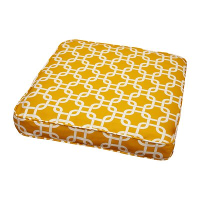 Bridgewood Knotted Outdoor Dining Chair Cushion Size: 19 W x 19 D, Fabric: Knotted Yellow