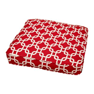 Travis Outdoor Dining Chair Cushion Size: 20 W x 20 D, Fabric: Knotted Red