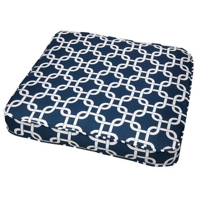 Travis Outdoor Dining Chair Cushion Fabric: Knotted Navy, Size: 19 W x 19 D