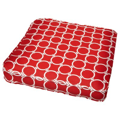 Bridgewood Link Outdoor Dining Chair Cushion Fabric: Link Red, Size: 19 W x 19 D