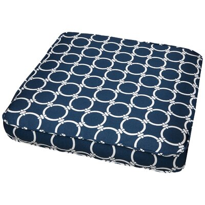 Bridgewood Link Outdoor Dining Chair Cushion Size: 19 W x 19 D, Fabric: Link Navy