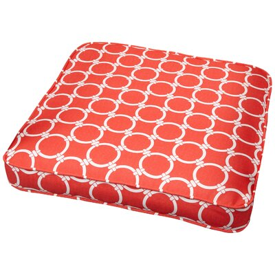 Bridgewood Link Outdoor Dining Chair Cushion Size: 20 W x 20 D, Fabric: Link Coral