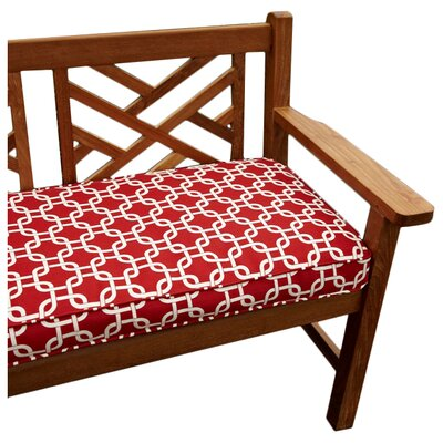 Bridgewood Knotted Outdoor Bench Cushion Fabric: Knotted Red, Size: 60 W x 19 D