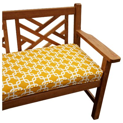 Bridgewood Knotted Outdoor Bench Cushion Size: 60 W x 19 D, Fabric: Knotted Yellow