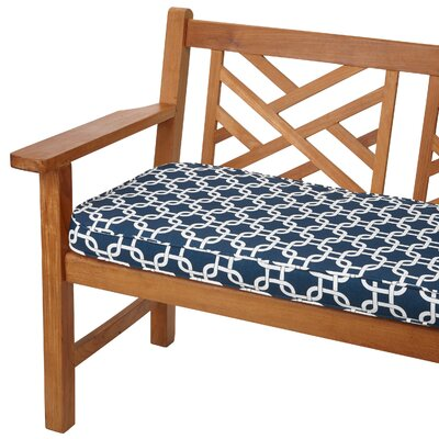 Travis Outdoor Bench Cushion Size: 48 W x 19 D, Fabric: Knotted Navy