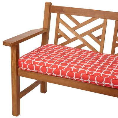 Bridgewood Outdoor Bench Cushion Size: 48 W x 19 D, Fabric: Link Coral