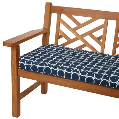 Bridgewood Outdoor Bench Cushion Size: 48 W x 19 D, Fabric: Link Navy
