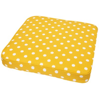 Bridgewood Outdoor Dining Chair Cushion Size: 20 W x 20 D, Fabric: Yellow