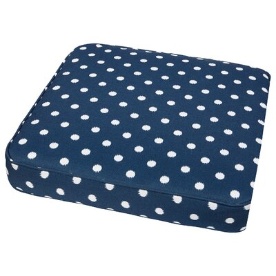 Bridgewood Outdoor Dining Chair Cushion Fabric: Navy Dots, Size: 19 W x 19 D