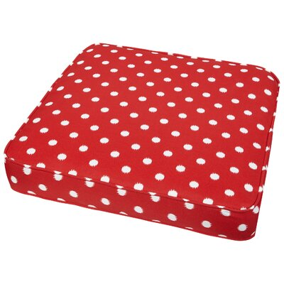 Bridgewood Outdoor Dining Chair Cushion Size: 20 W x 20 D, Fabric: Red Dots