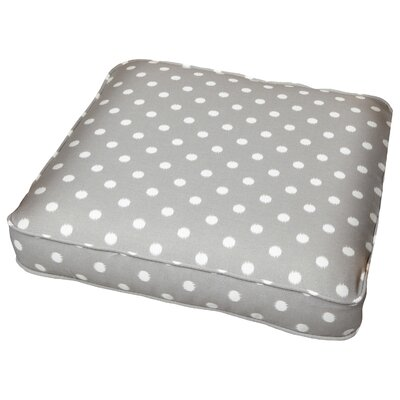 Bridgewood Outdoor Dining Chair Cushion Size: 20 W x 20 D, Fabric: Dots Grey