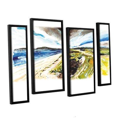 Beach View 4 Piece Framed Painting Print Set