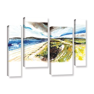 Beach View 4 Piece Painting Print on Wrapped Canvas Set