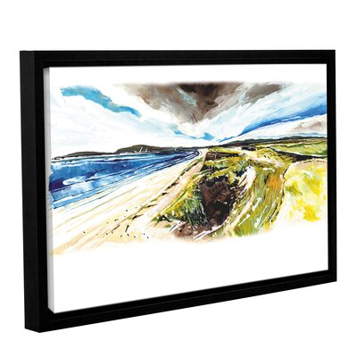 Beach View Framed Painting Print