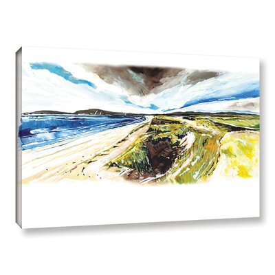 Beach View Painting Print on Wrapped Canvas