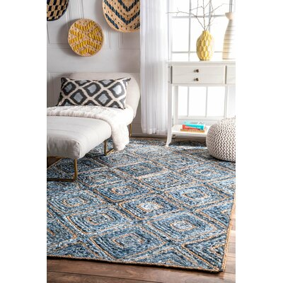 Merepoint Blue Area Rug Rug Size: Rectangle 76 x 96