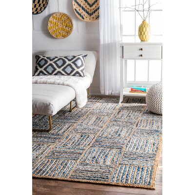 North AMonmouth Blue Area Rug Rug Size: 76 x 96