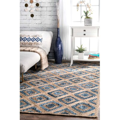 Bethel Beige/Denim Area Rug Rug Size: Rectangle 5' x 8'