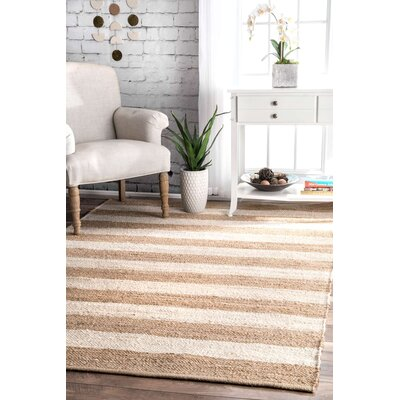 Stockton Springs Beige/Bleached Area Rug Rug Size: 86 x 116