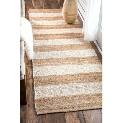 Stockton Springs Beige Area Rug Rug Size: Runner 2'6