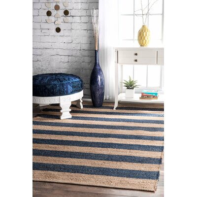 Vienna Denim/Beige Area Rug Rug Size: Rectangle 76 x 96