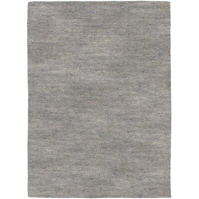 Bayside Hand-Woven Gray Area Rug Rug Size: 96 x 136