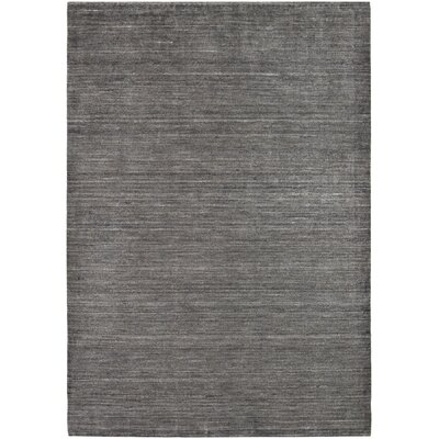 Bayside Hand-Woven Black/Gray Area Rug Rug Size: Rectangle 96 x 136