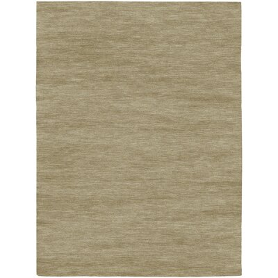 Bayside Hand-Woven Brown/Tan Area Rug Rug Size: Rectangle 35 x 55