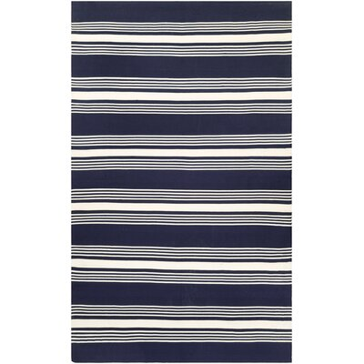 Dewey Hand-Woven Navy Indoor/Outdoor Area Rug Rug Size: Runner 23 x 8