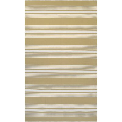Dewey Hand-Woven Camel/Ivory Indoor/Outdoor Area Rug Rug Size: 2 x 3