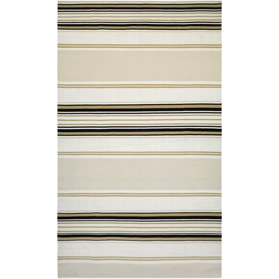 Dewey Hand-Woven Bay Ivory Indoor/Outdoor Area Rug Rug Size: 3' x 5'