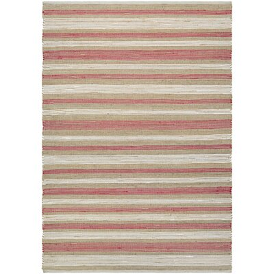 Hansville Awning Stripes Hand-Loomed Area Rug Rug Size: Rectangle 4 x 6