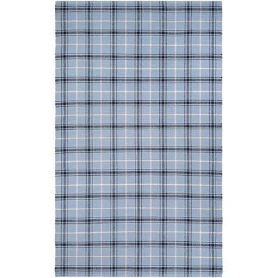Bonifay Cape Plaid Hand-Woven Blue/Black Area Rug Rug Size: 5 x 8
