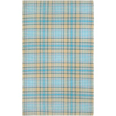 Bonifay Hand-Woven Blue/Yellow Area Rug Rug Size: Rectangle 5 x 8