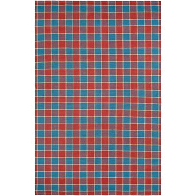 Bonifay Cape Red/Blue Hand-Woven Area Rug Rug Size: 2 x 3