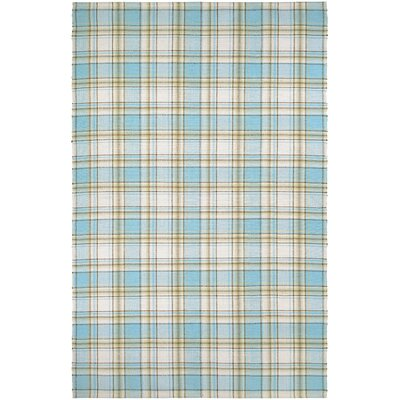 Bonifay Cape Plaid/Cornflower Hand-Woven Natural Area Rug Rug Size: Runner 23 x 8