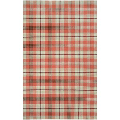 Bonifay Cape Plaid Hand-Woven Red/Gray Area Rug Rug Size: 5 x 8
