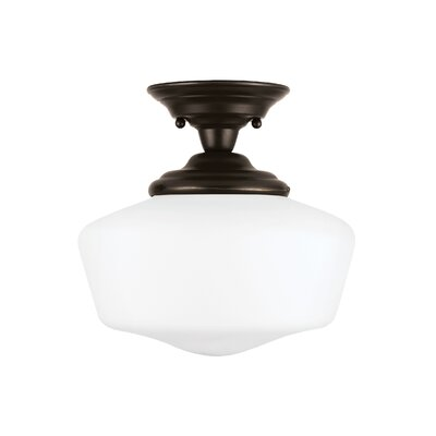 Panacea 1-Light Semi Flush Mount Color: Heirloom Bronze, Size: 12.5 H x 13 W x 13 D