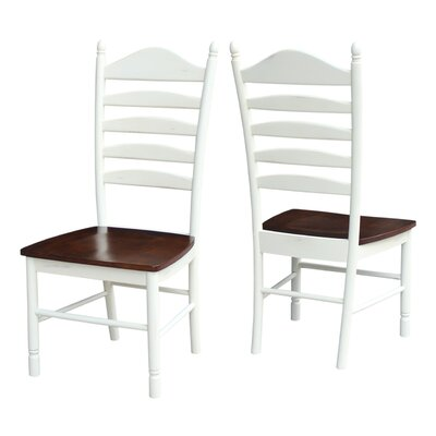 Hallandale Ladderback Solid Wood Dining Chair Finish: Alabaster