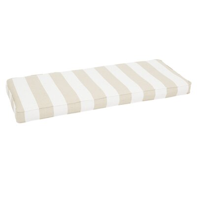 Stripe Outdoor Sunbrella Bench Cushion Size: 3