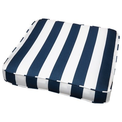Outdoor Dining Chair Cushion Size: 20 W x 20 D, Fabric: Stripe Navy