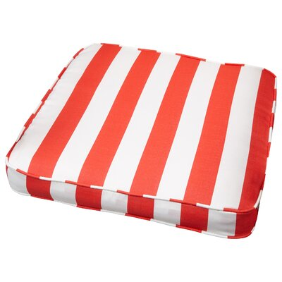 Outdoor Dining Chair Cushion Fabric: Stripe Coral, Size: 19