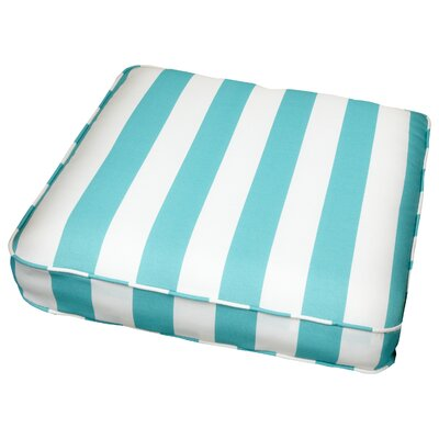 Outdoor Dining Chair Cushion Size: 19 W x 19 D, Fabric: Stripe Aqua