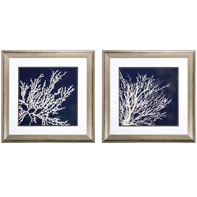 Coral 2 Piece Framed Graphic Art Set