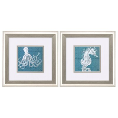 Creatures 2 Piece Framed Graphic Art Set