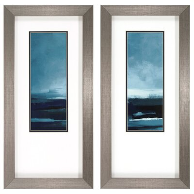 Calm Waters 2 Piece Framed Painting Print Set