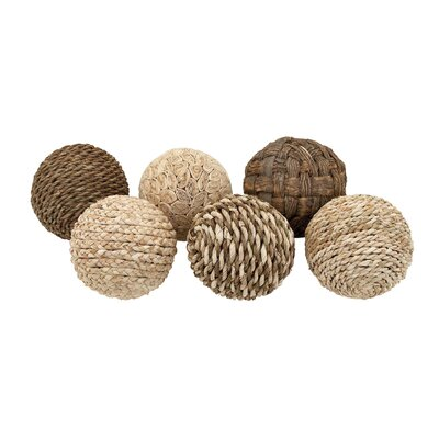 Decorative Dried Plant Ball 6 Piece Sculpture Set Size: 14 H x 8 W x 8 D