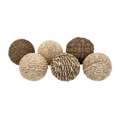 Decorative Dried Plant Ball 6 Piece Sculpture Set Size: 14 H x 8 W x 8 D