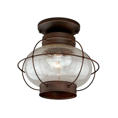 Sanibel 1-Light Flush Mount Finish: Burnished Bronze